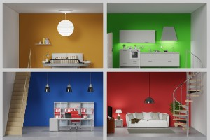 The colour is not only on your walls