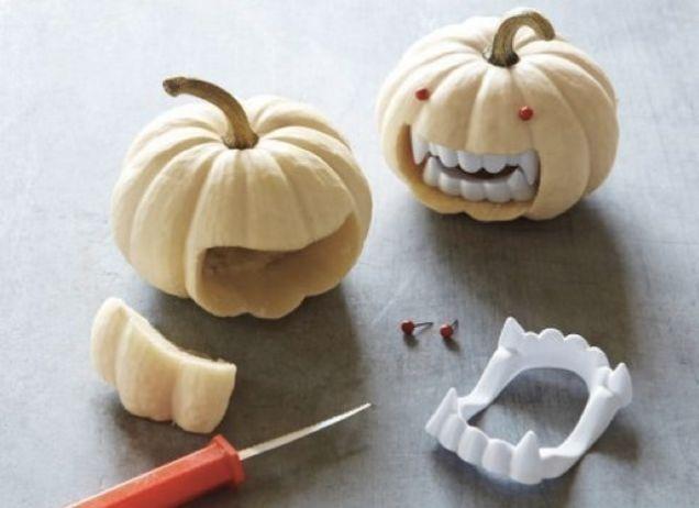 Mini-citrouilles vampires
