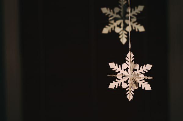 Guirlande en flocons de neige