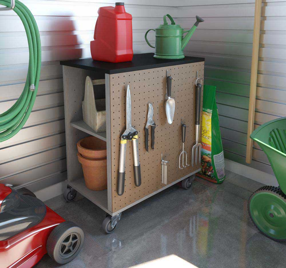 Mobile Storage Cabinet for the Garage