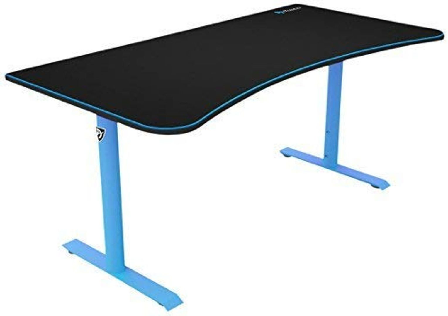 blue and black gaming desk