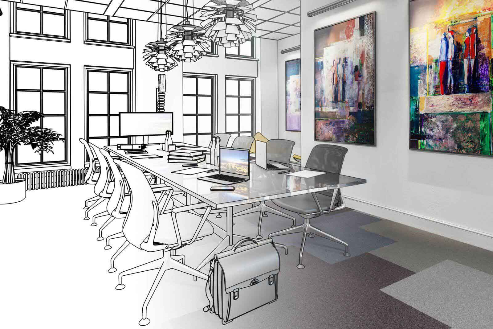 Plan d'aménagement de bureau
