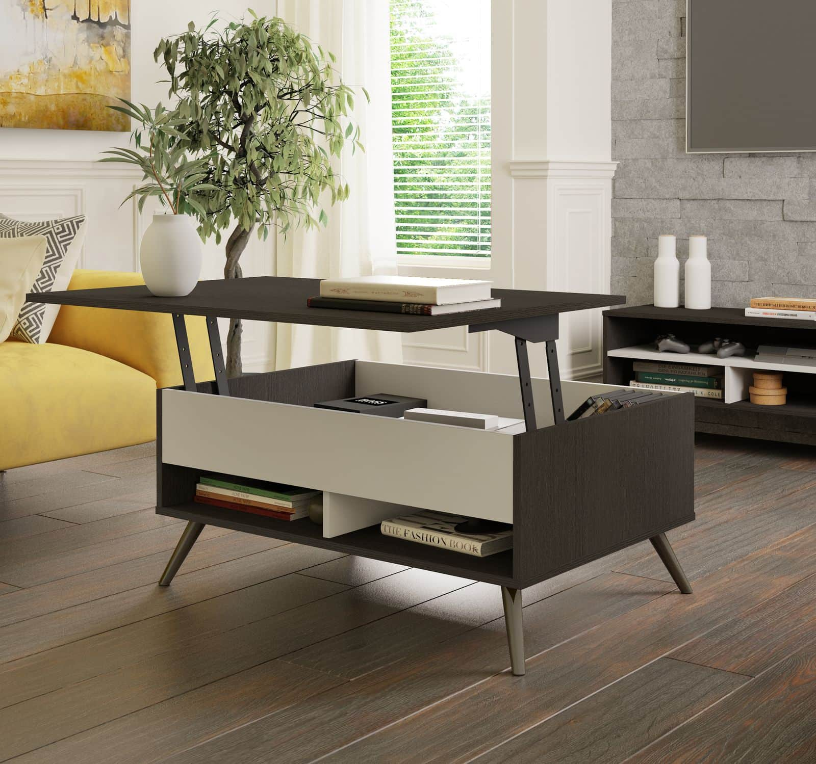 Space-saving lift-top coffee table from Bestar