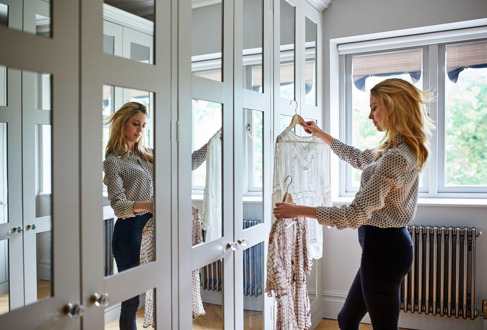Woman choosing an outfit