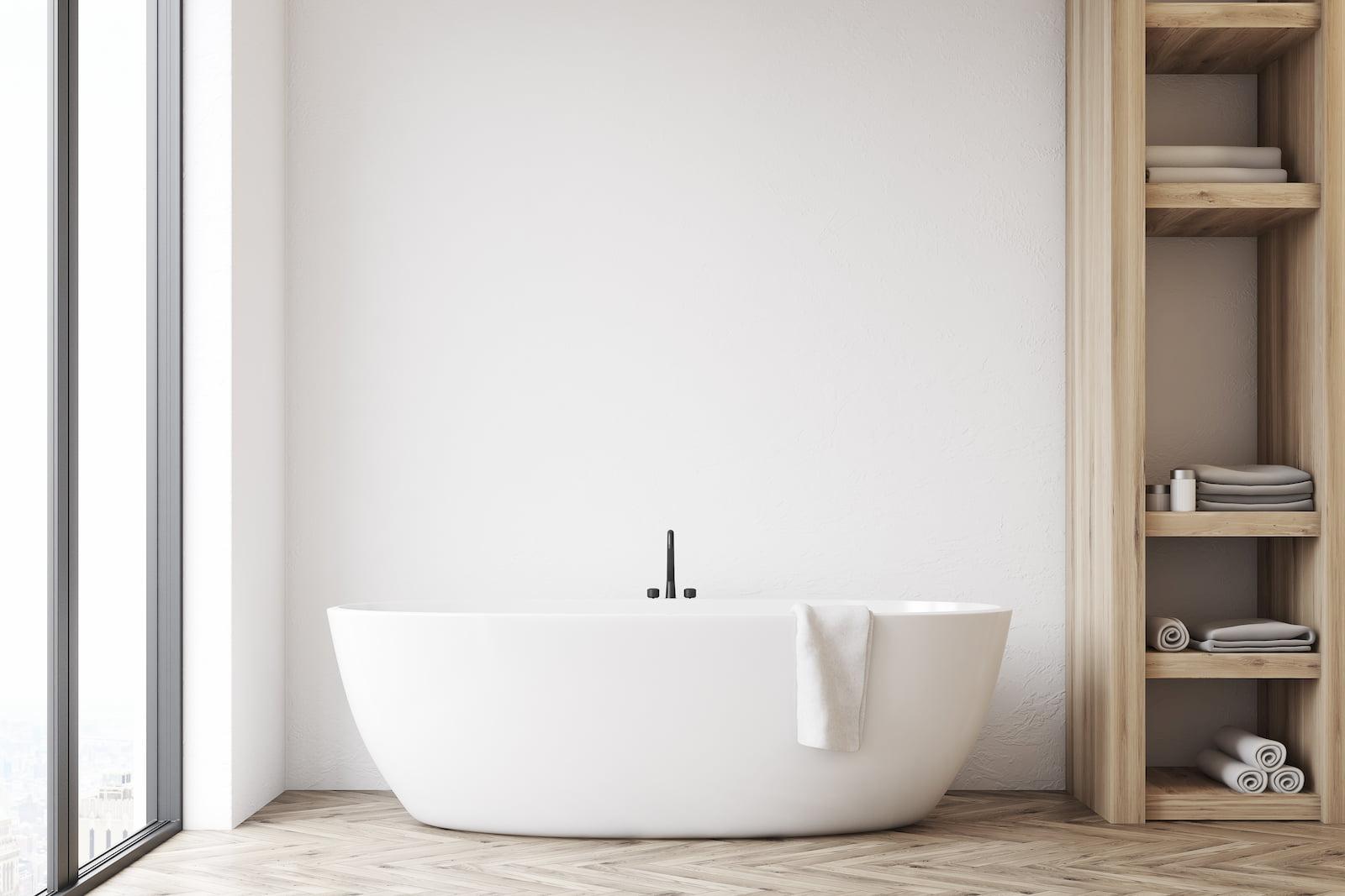 Salle de bain contemporaine, minimaliste et épurée