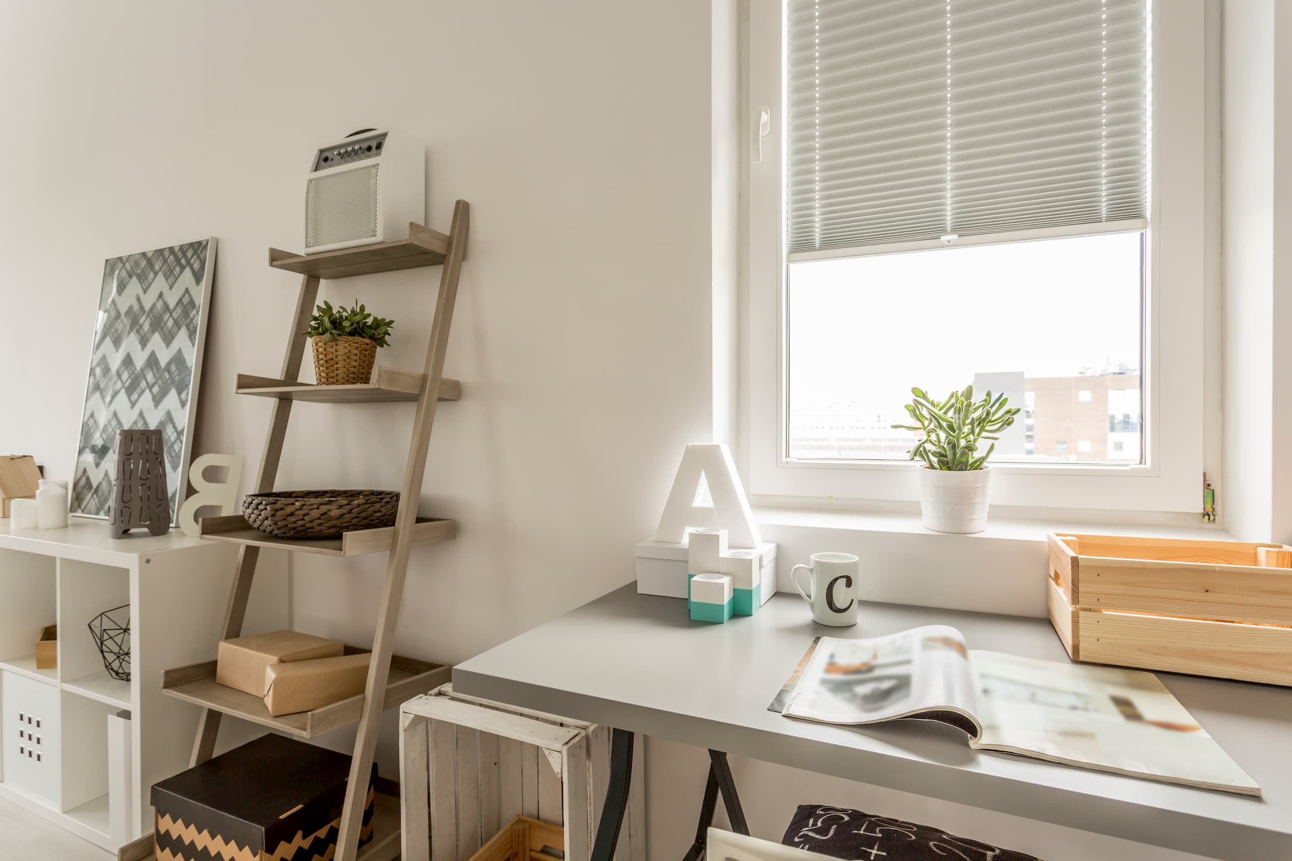 Organized and stylish home office for the new year