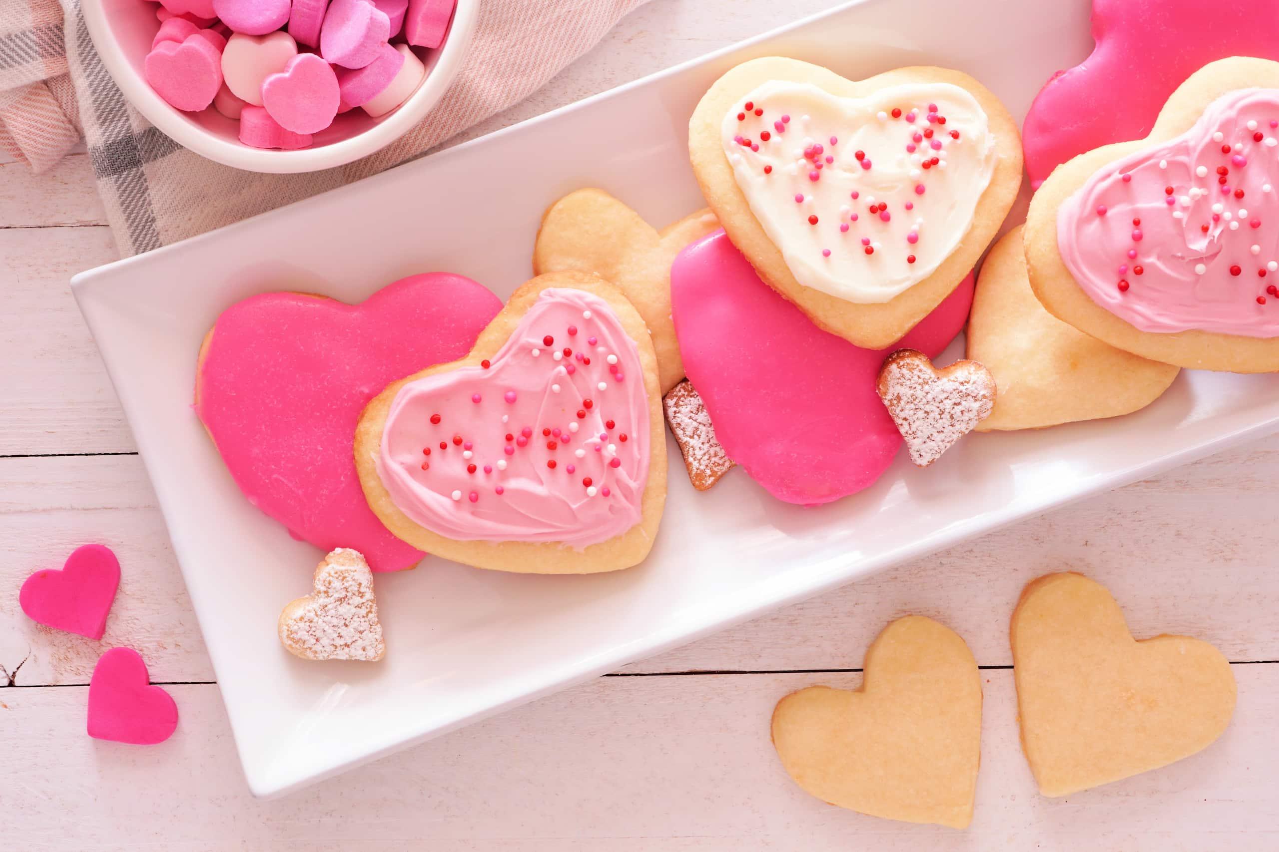 valentine's day 2021 pink cookies