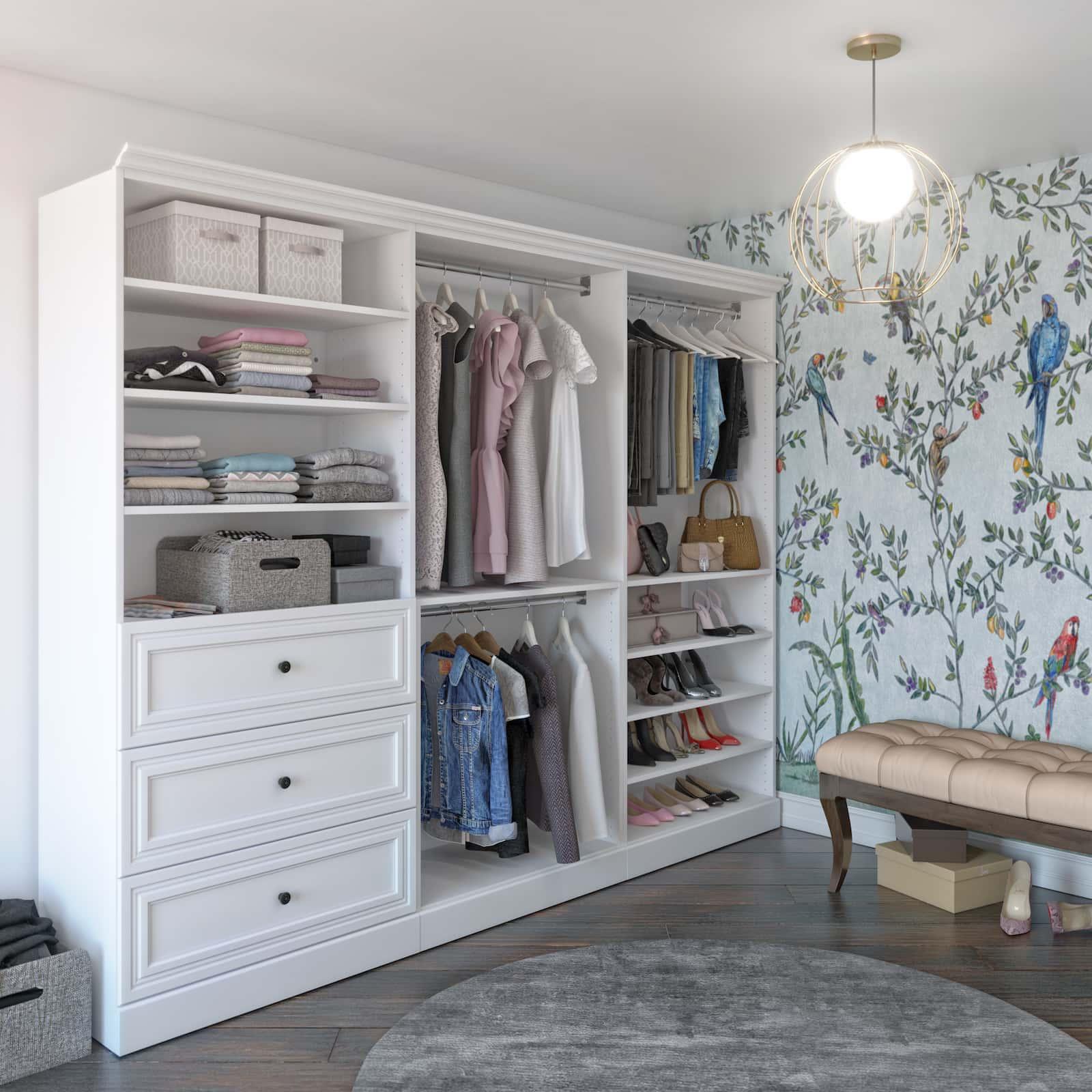 3 espaces qui pourraient tirer profit d'un rangement pour garde-robe