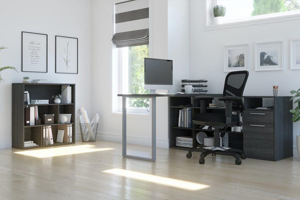 bureau à domicile avec rangement