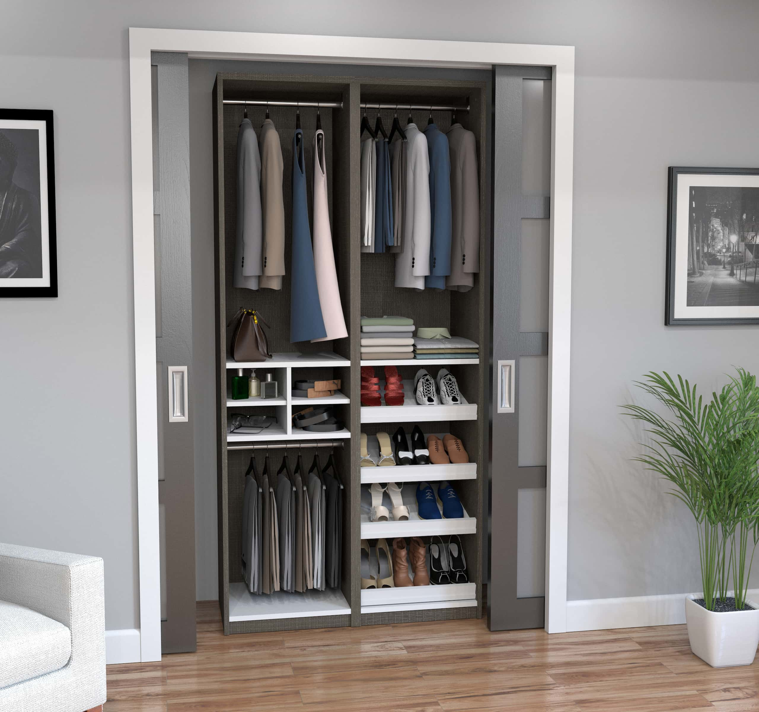 Discover the Practicality of Bestar Closet Systems