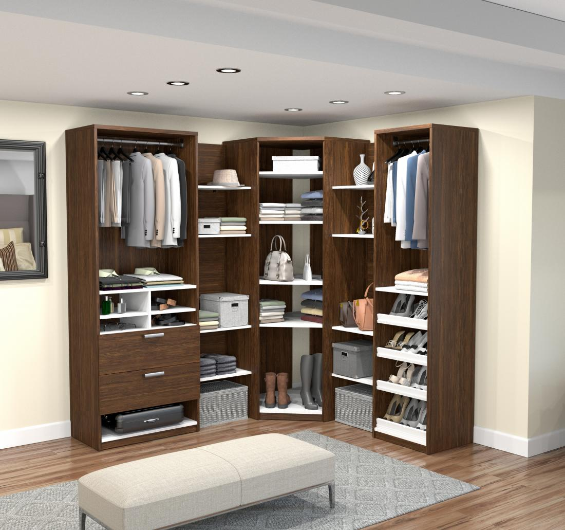 Walk-In Closet Organizer with 8 Floating Shelves