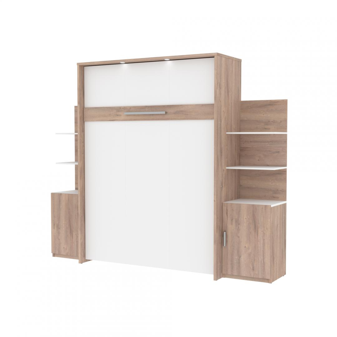 Queen Murphy Bed with Floating Shelves (104W)