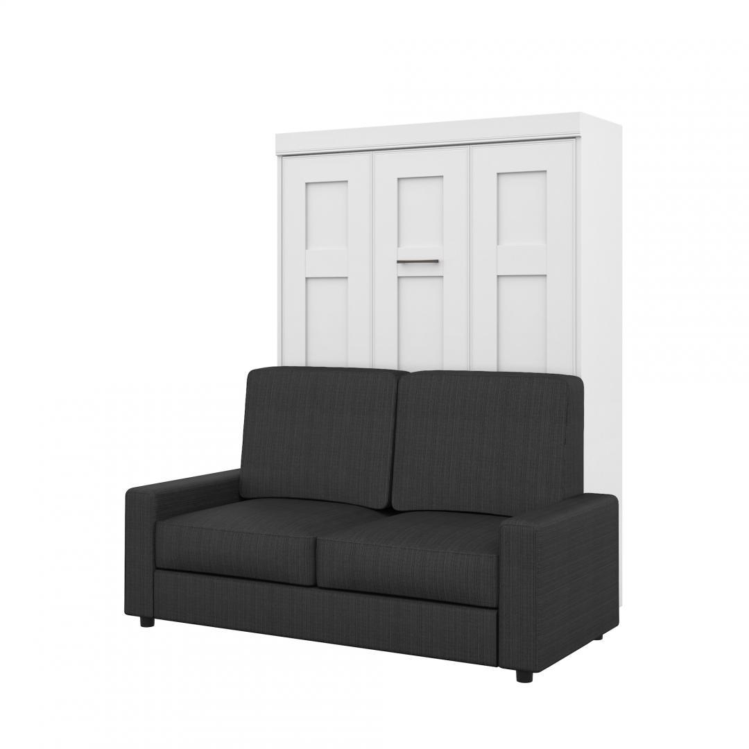 Lit double escamotable (deux places) et un sofa