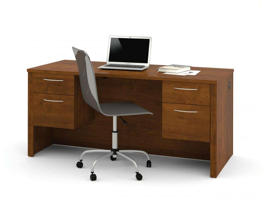 Executive Desk with Dual Half Pedestals