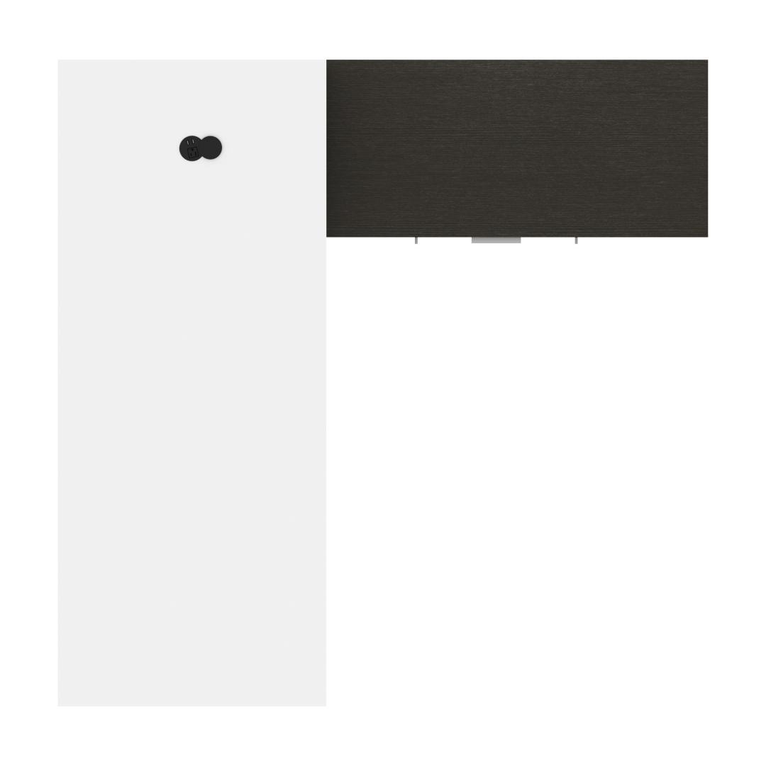 Blanc et gris profond
