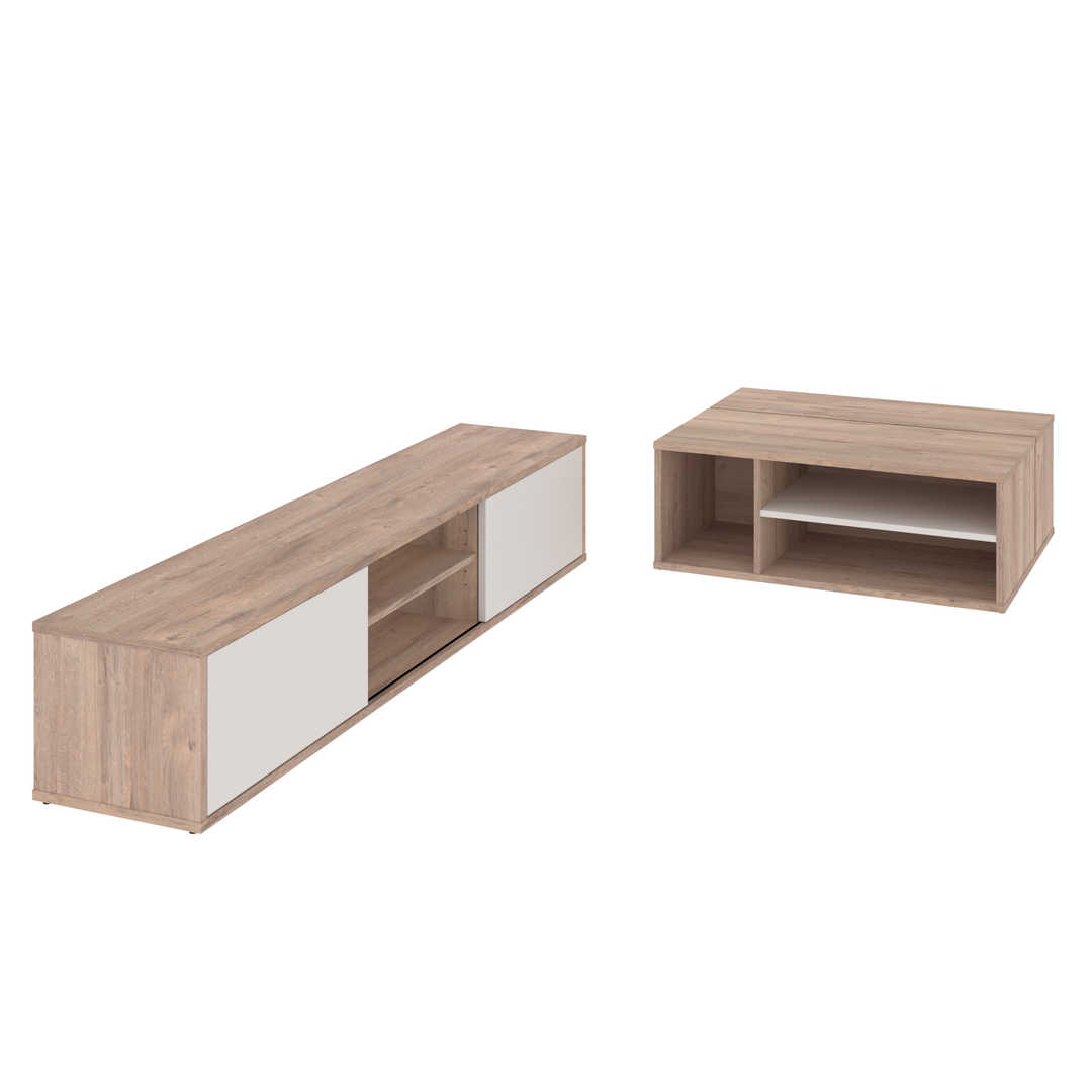 2-Piece Set including a TV stand and a Coffee table