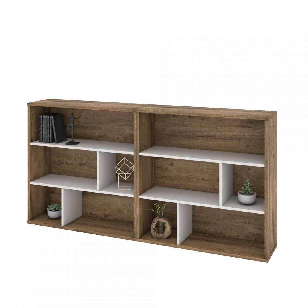 2-Piece Set including Two Asymmetrical Shelving Units