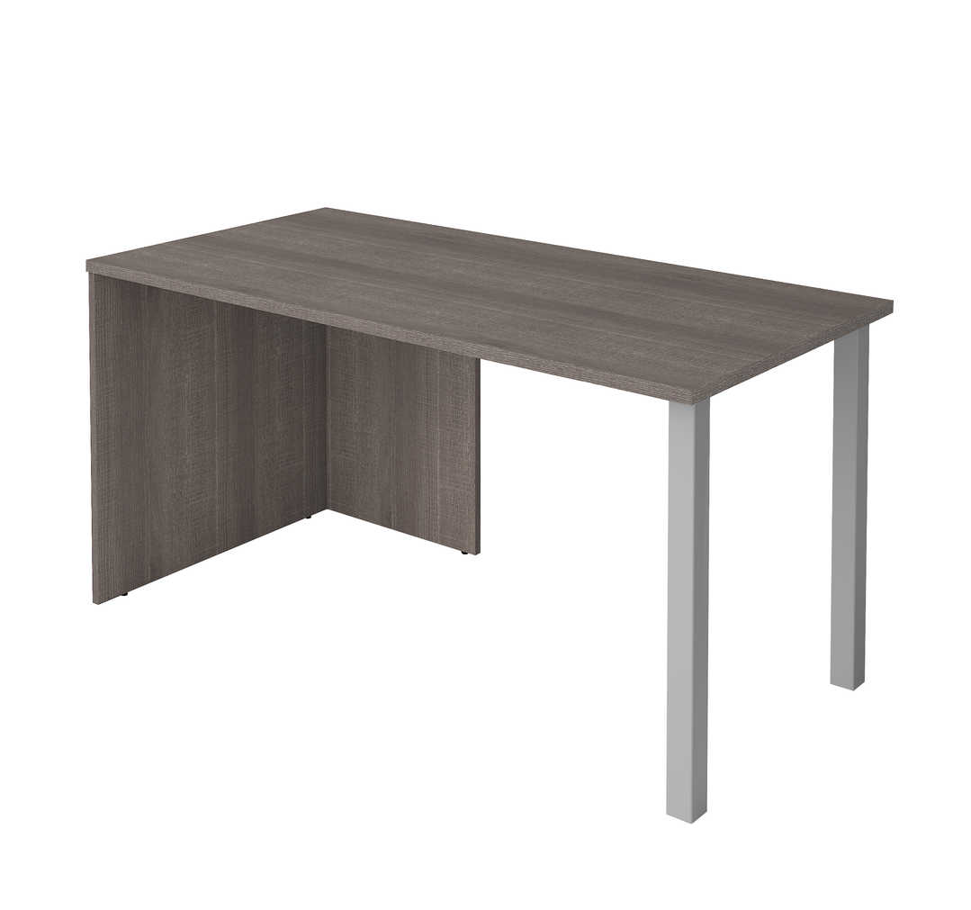 60W Table Desk with Two Metal Legs