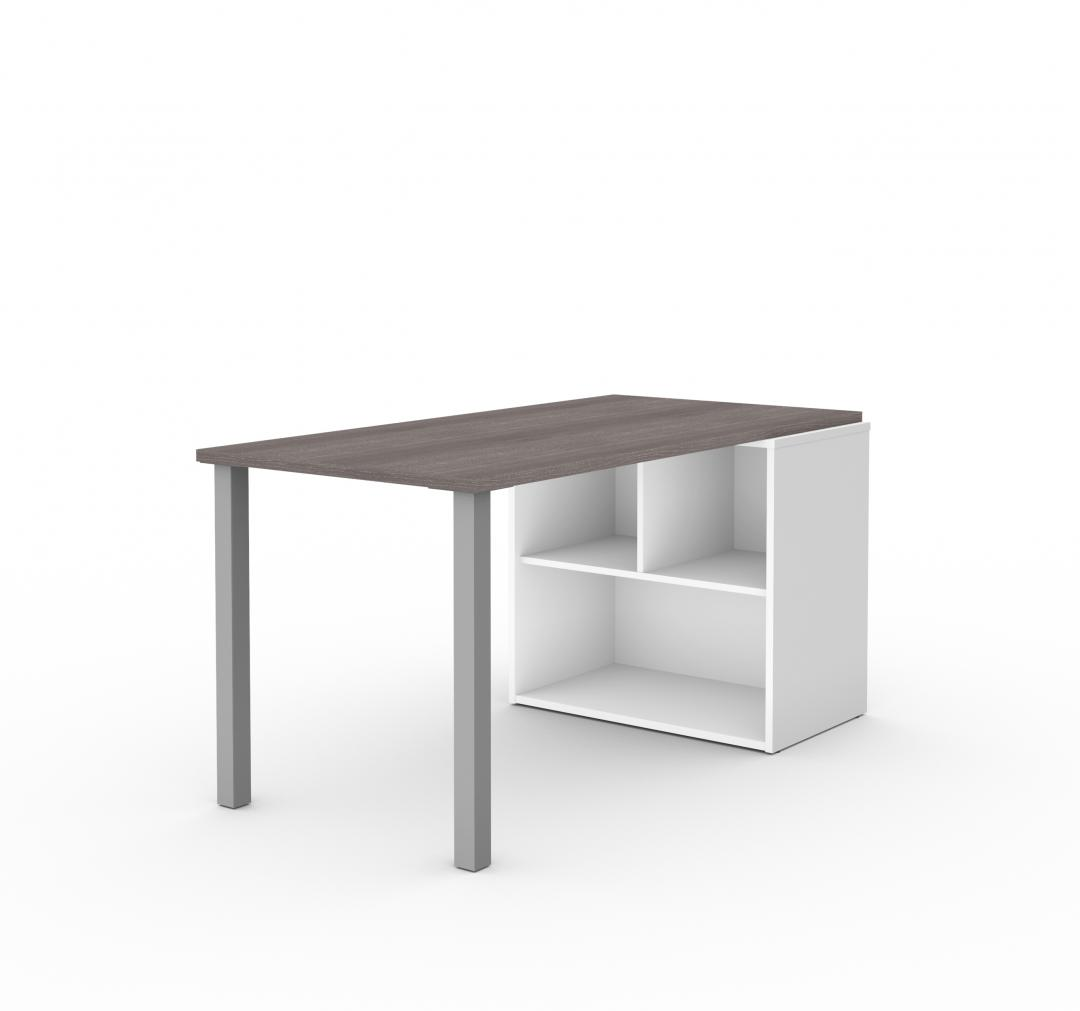 Table Desk with Open Storage