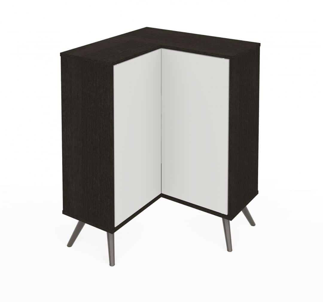 Corner Storage Cabinet with Metal Legs