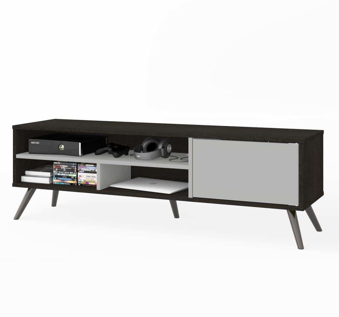 54W TV Stand with Metal Legs