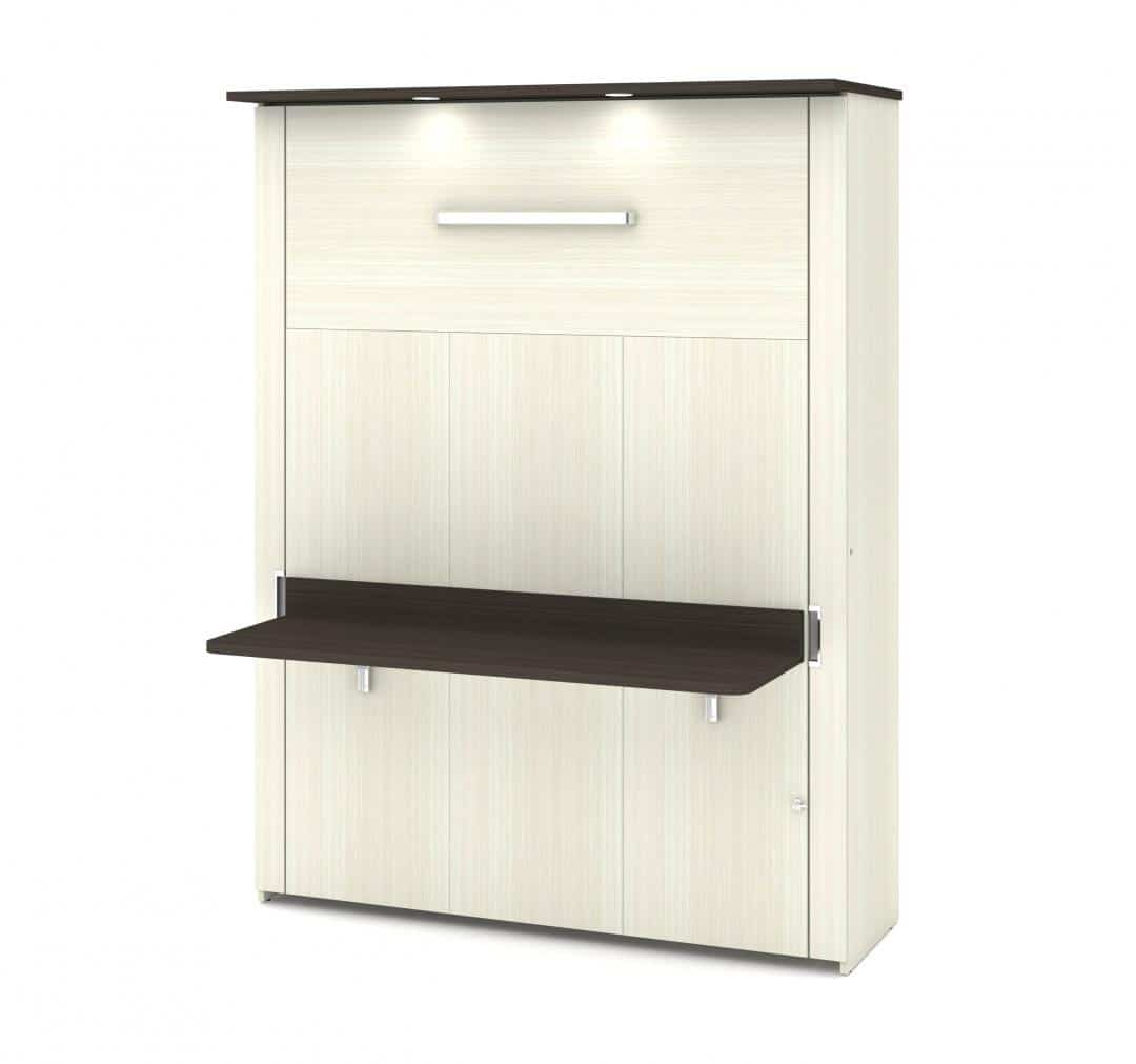 Lit queen escamotable (grand lit) avec bureau