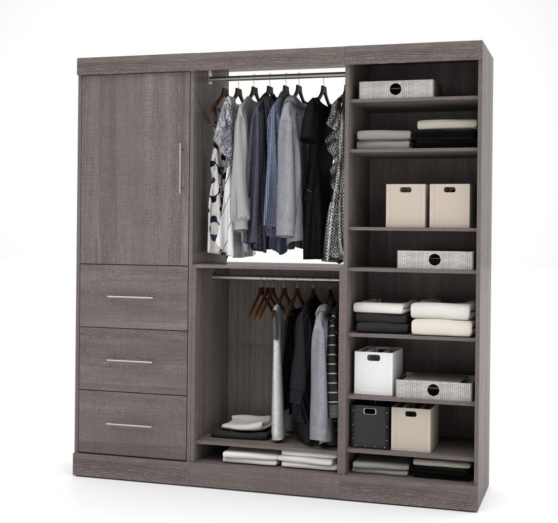 "80"" Closet Organizer with Drawers"
