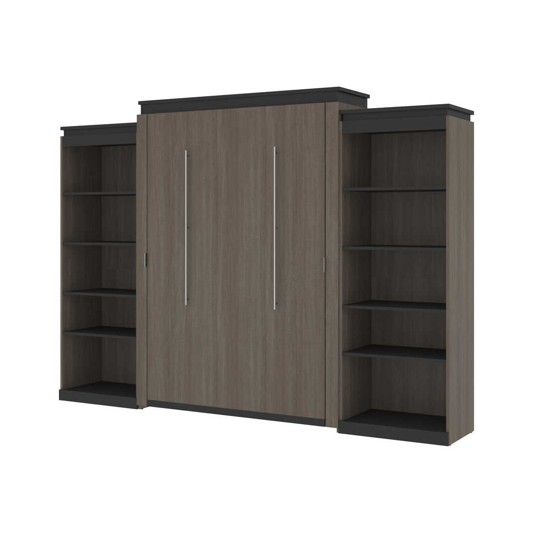 Queen Murphy Bed with 2 Shelving Units (125W)