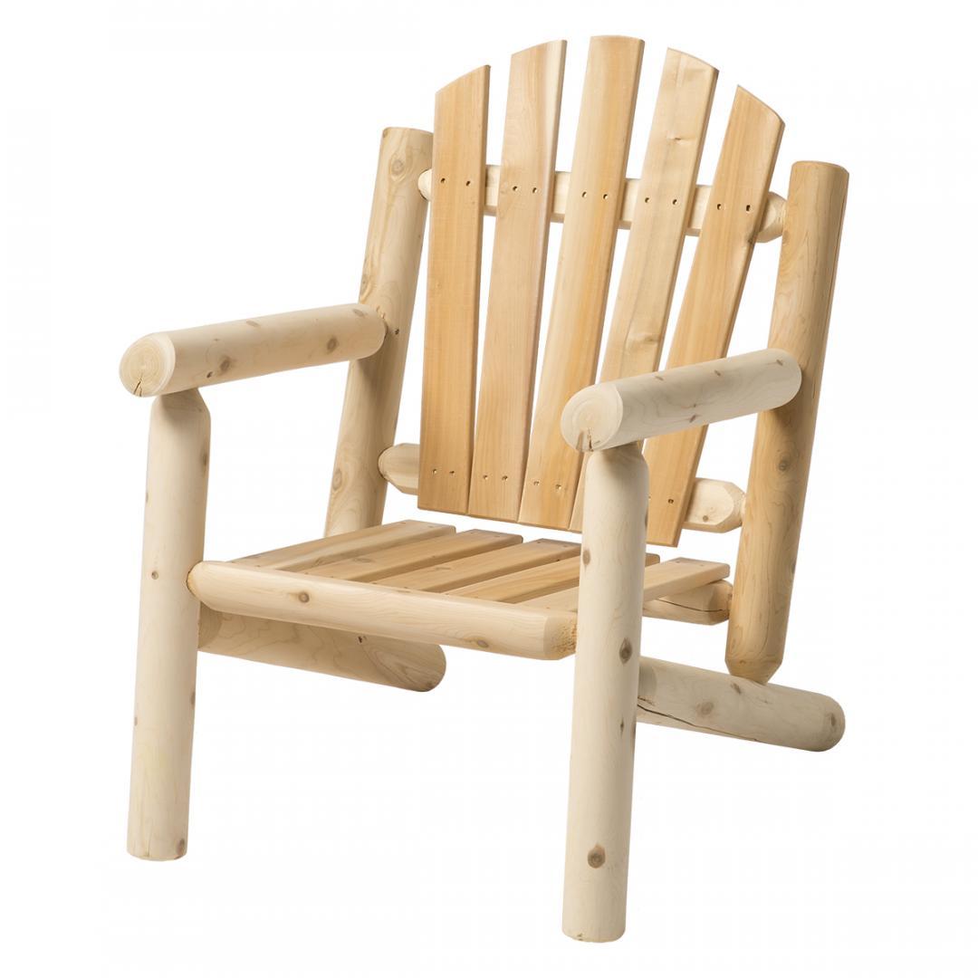 Ensemble en cèdre blanc de 4 chaises et 1 table à café