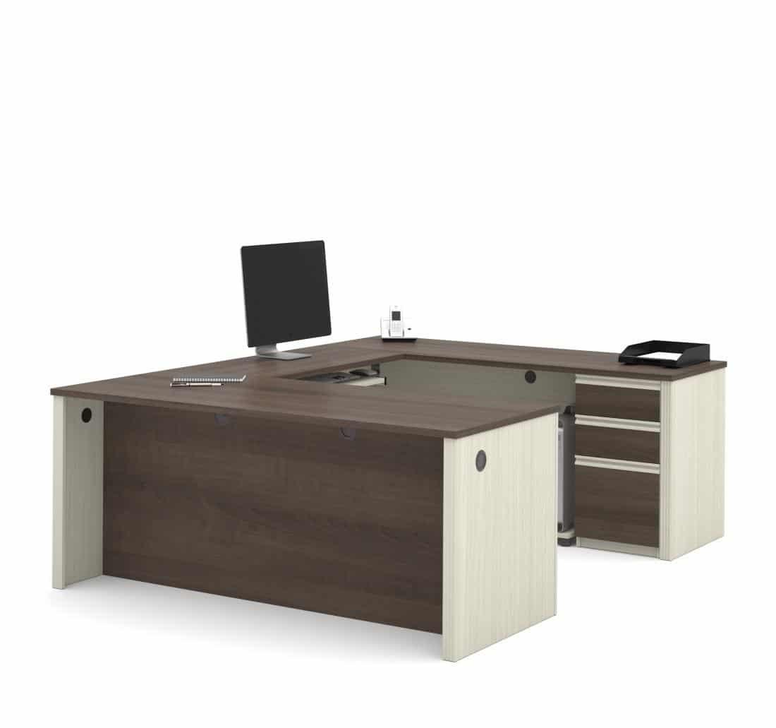 72W U-Shaped Executive Desk with Pedestal