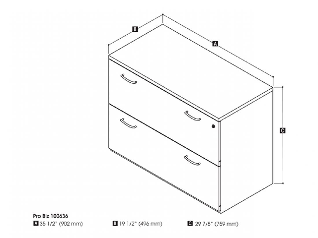 Assembled Lateral File Cabinet