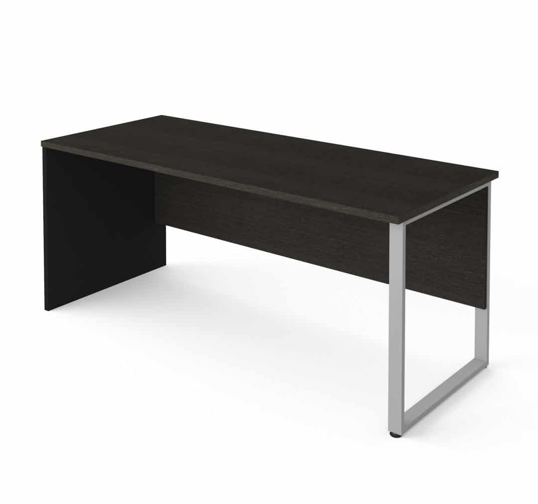 72W Table Desk with Rectangular Metal Leg
