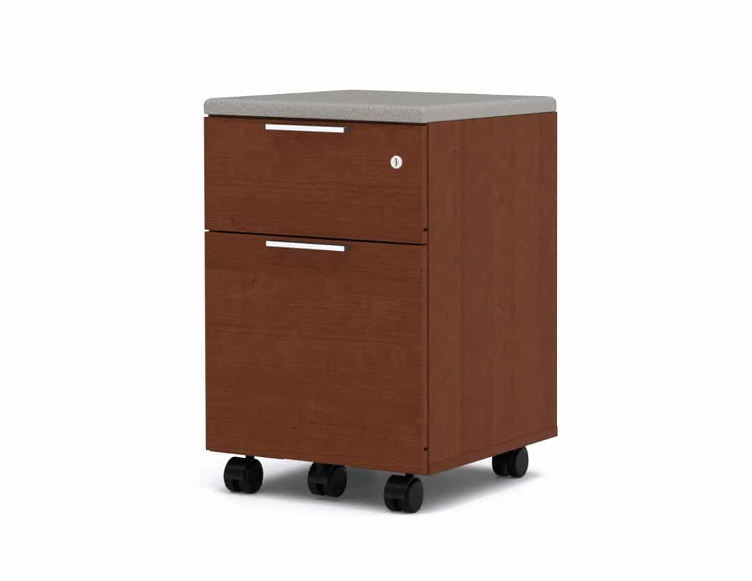 Assembled Mobile Pedestal with 2 Drawers