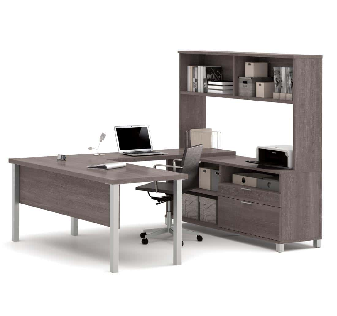U-Shaped Executive Desk with Hutch
