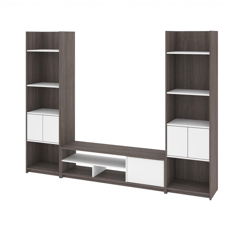 TV Stand with 2 Shelving Units