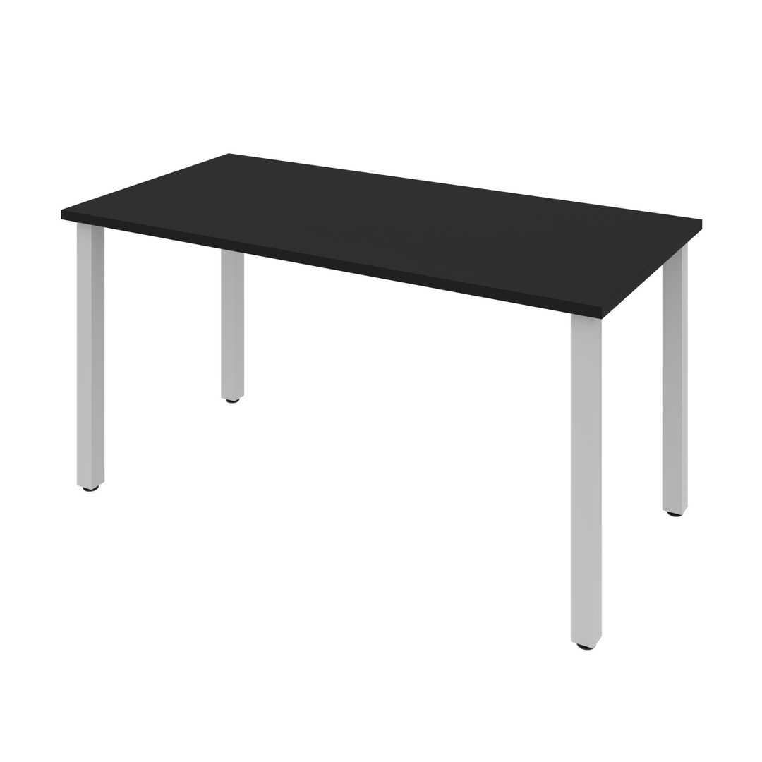 "30"" x 60"" Table Desk with Square Metal Legs"