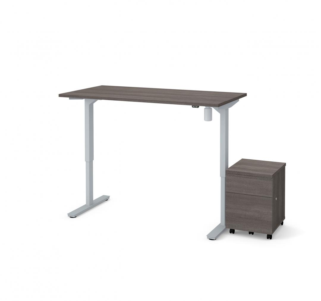 60W x 30D Standing Desk with Mobile Pedestal