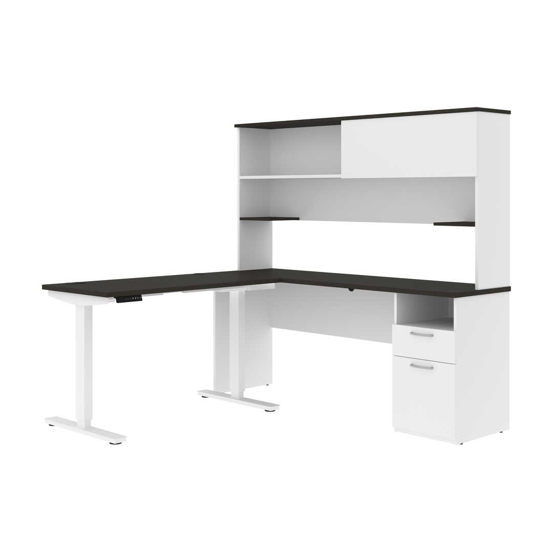 "24"" x 48"" Standing Desk and 1 Credenza with Hutch"