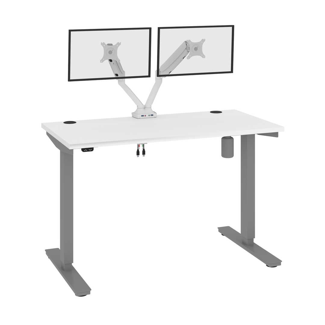 "24"" x 48"" Standing Desk with Dual Monitor Arm"