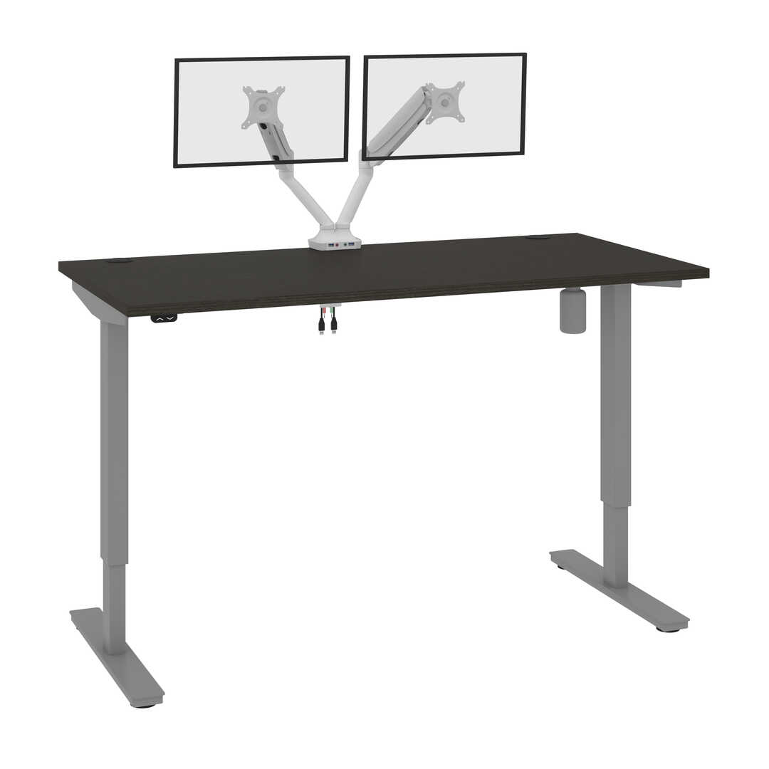 "30"" x 60"" Standing Desk with Dual Monitor Arm"