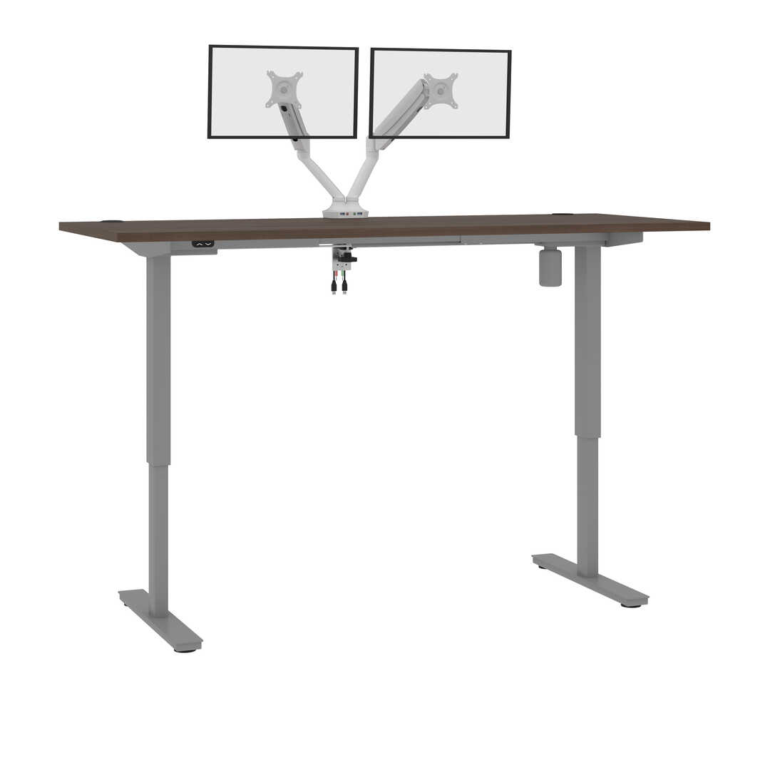 "30"" x 72"" Standing Desk with Dual Monitor Arm"
