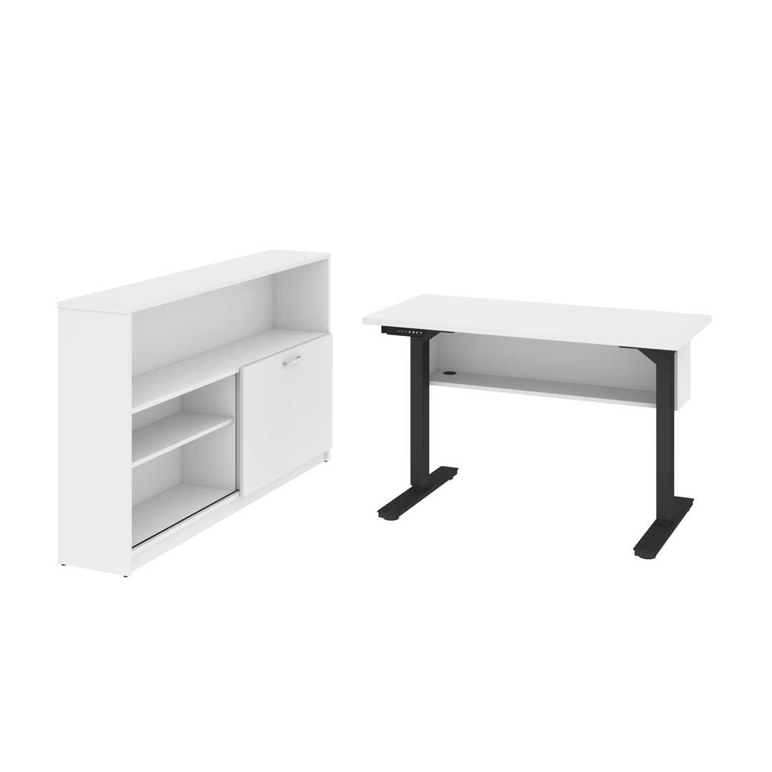 "2-Piece set including a 24"" x 48"" standing desk and a credenza"