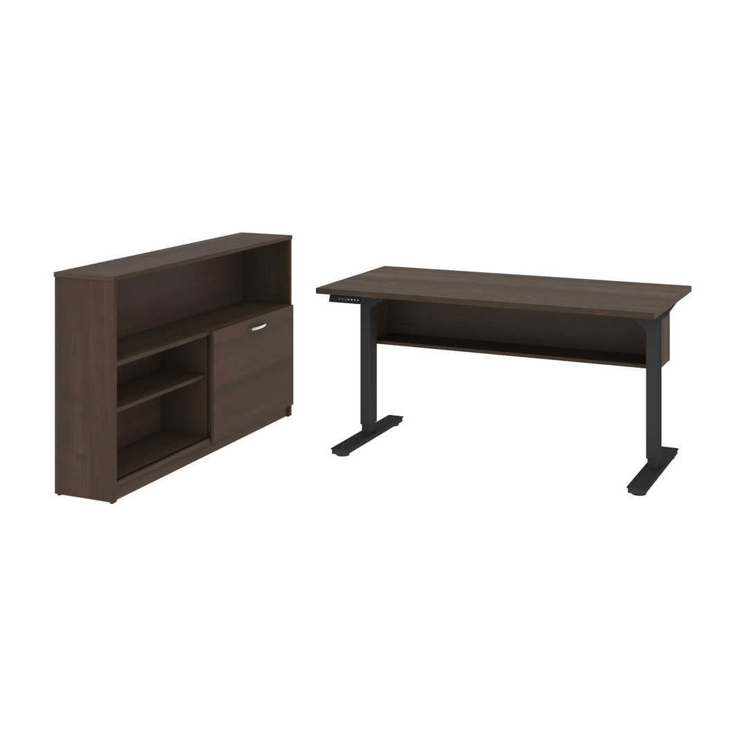 "2-Piece set including a 30"" x 60"" standing desk and a credenza"