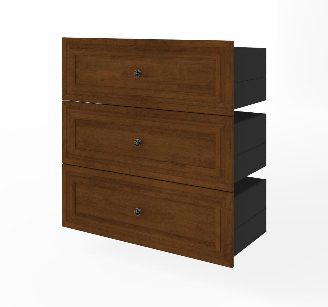 Ensemble de 3 tiroirs pour rangement pour garde-robe 36L Versatile