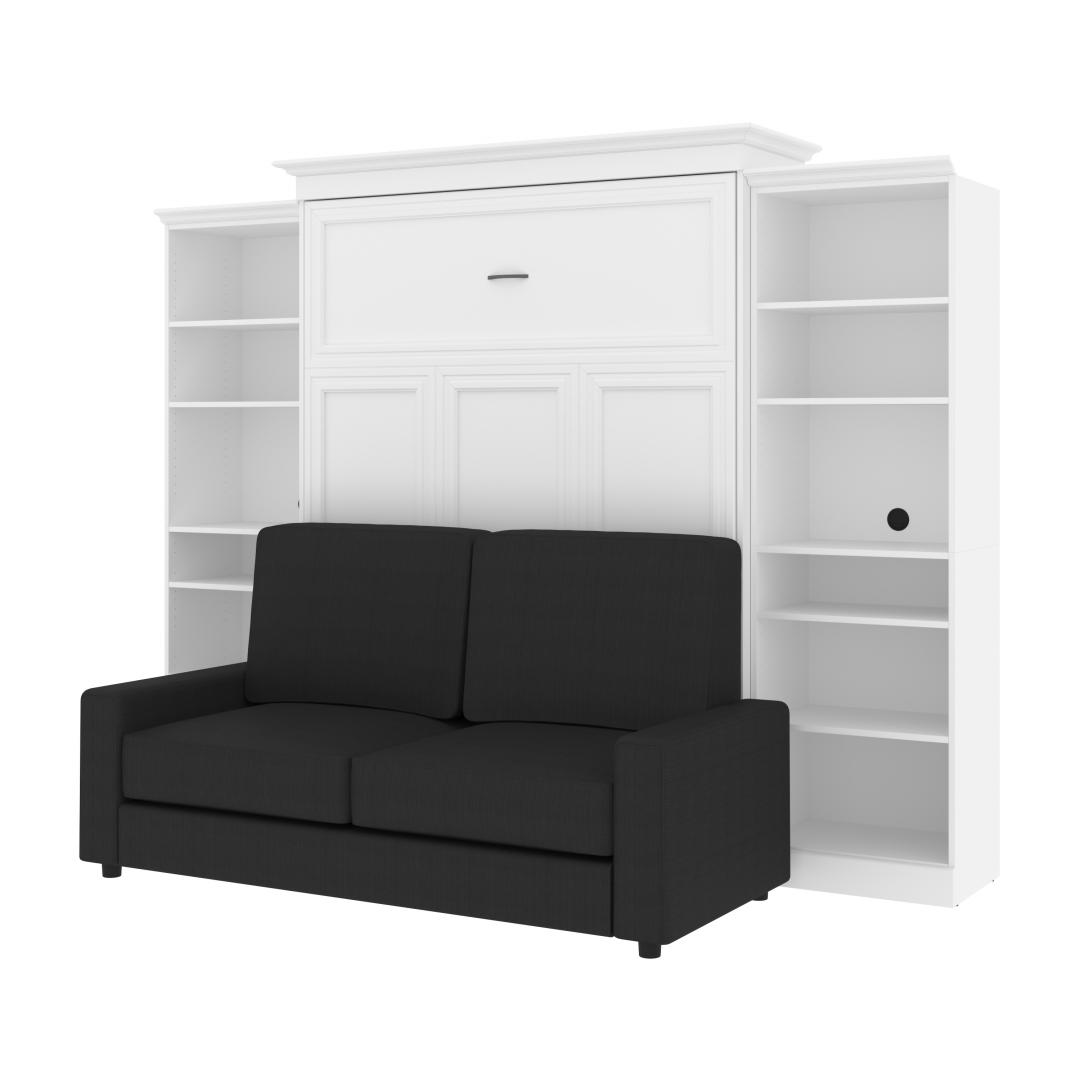 "Queen Murphy Bed, Two Storage Units and a Sofa (115"")"