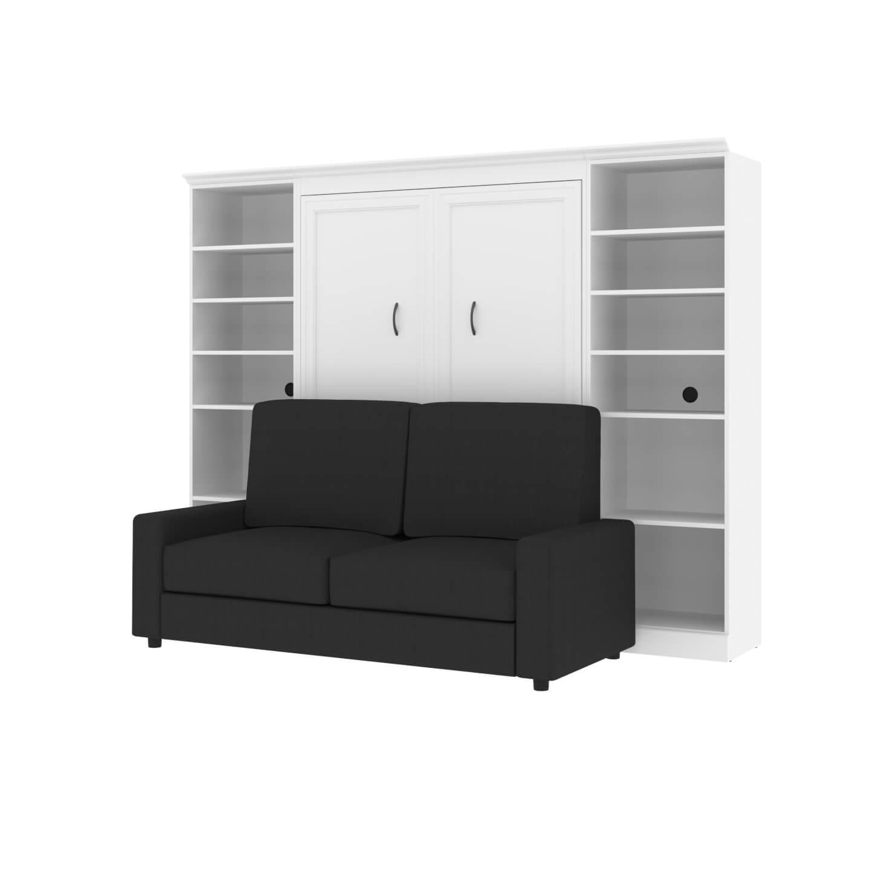 """Lit double escamotable (deux places), deux unités de rangement et un sofa (109"""")"""