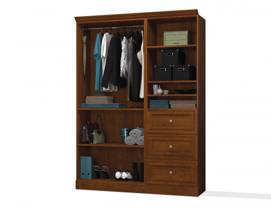 "61"" Closet Organizer with Drawers"