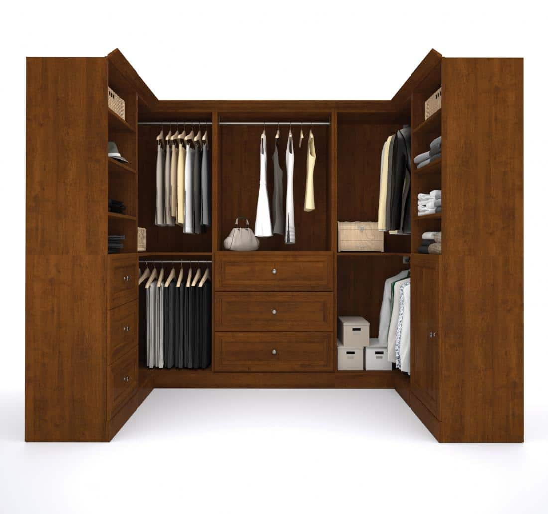 Versatile U-Shaped Walk-In Closet Organizer | Bestar