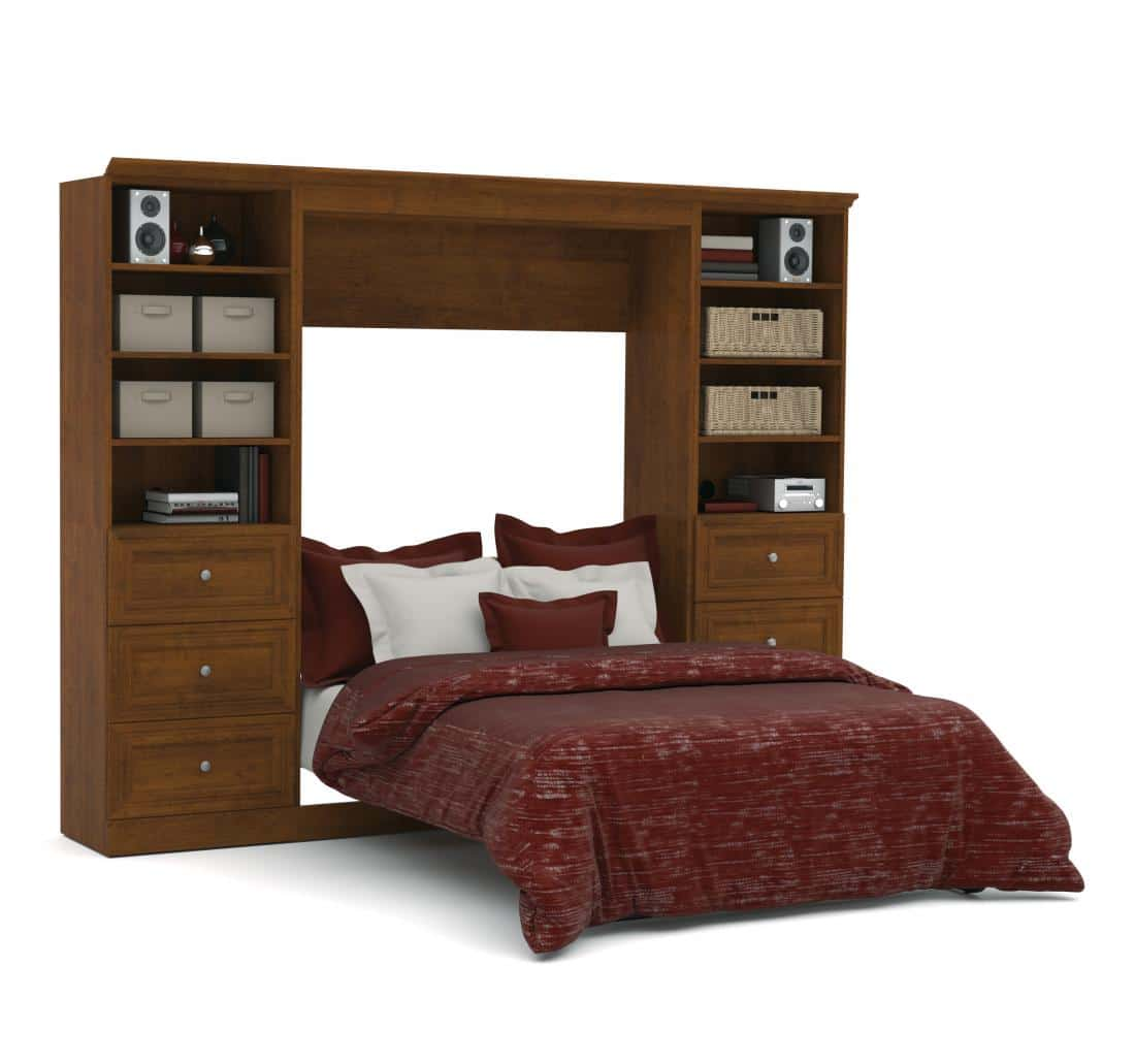 "Full Murphy Bed and 2 Storage Units with Drawers (109"")"