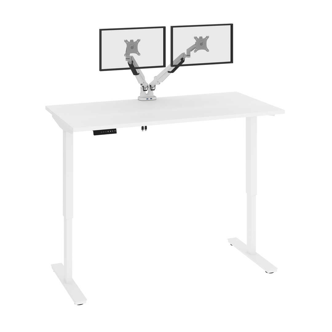 60W x 30D Electric Standing Desk with Monitor Arms